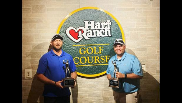 Luke Weber (left) and Brad Haynes (right) won Overall in the South Dakota Golf Association's 2020 SDGA Mid-Amateur Two-Man Championship held this last weekend.