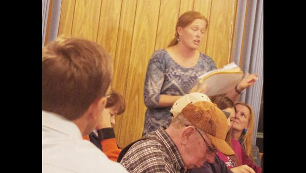 Jeri Fosheim,Midland, asked a number of questions of Todd Kenner.